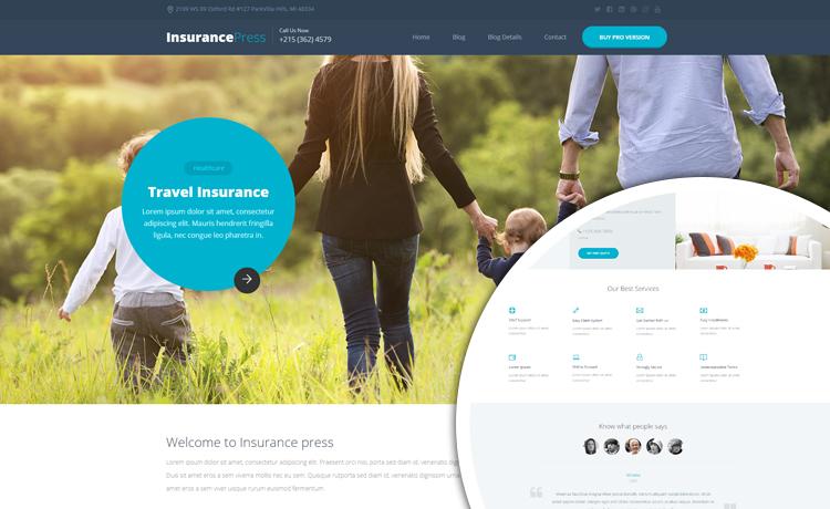 free HTML5 insurance template