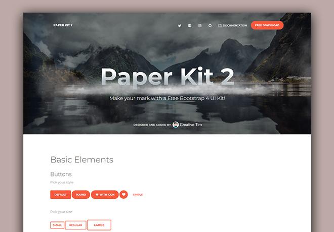Free Bootstrap 4 UI Kits