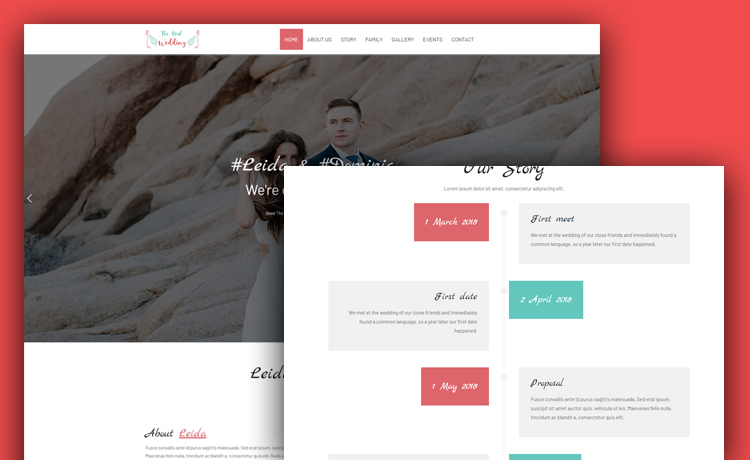 free HTML5 wedding template