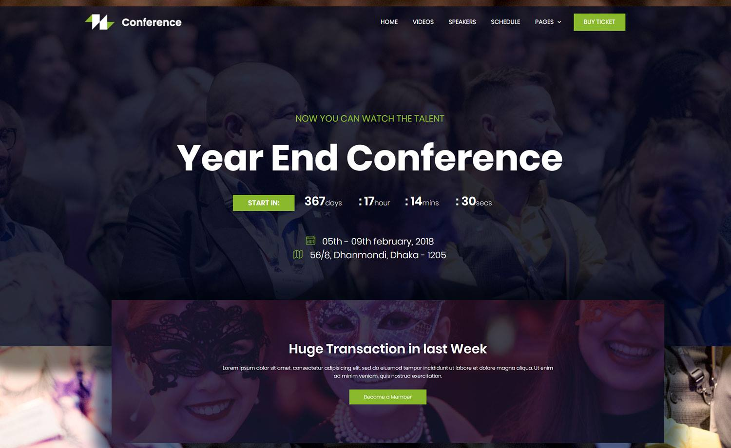 Free HTML5 Event Website Template