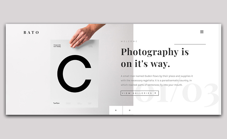 Free HTML5 Responsive Photography Template