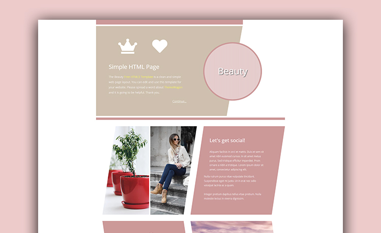One Page Free HTML5 Creative Template