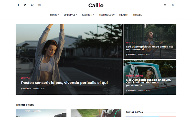 Easy To Edit Free HTML5 Fashion Blogging Template