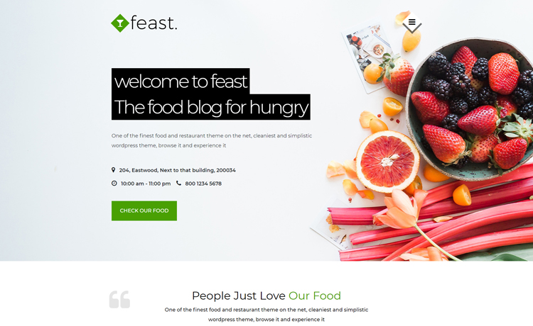 free Bootstrap food blogging template