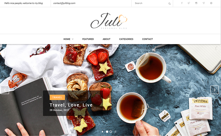 Free HTML5 Blog Theme For Blogging With Trendy Niches