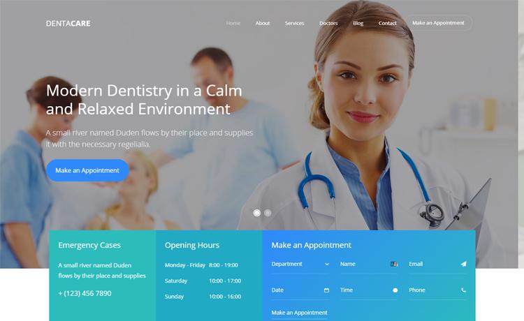 Free Bootstrap 4 HTML5 dental website template