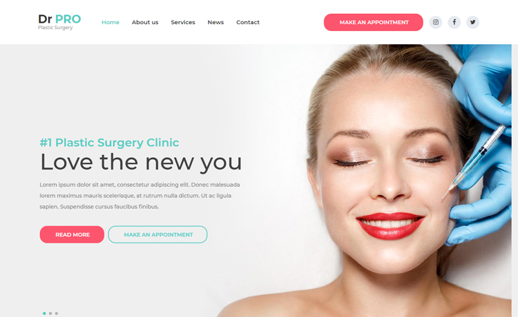 Free Bootstrap 4 HTML5 medical website template