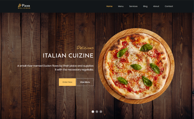Free Bootstrap 4 HTML5 pizza website template