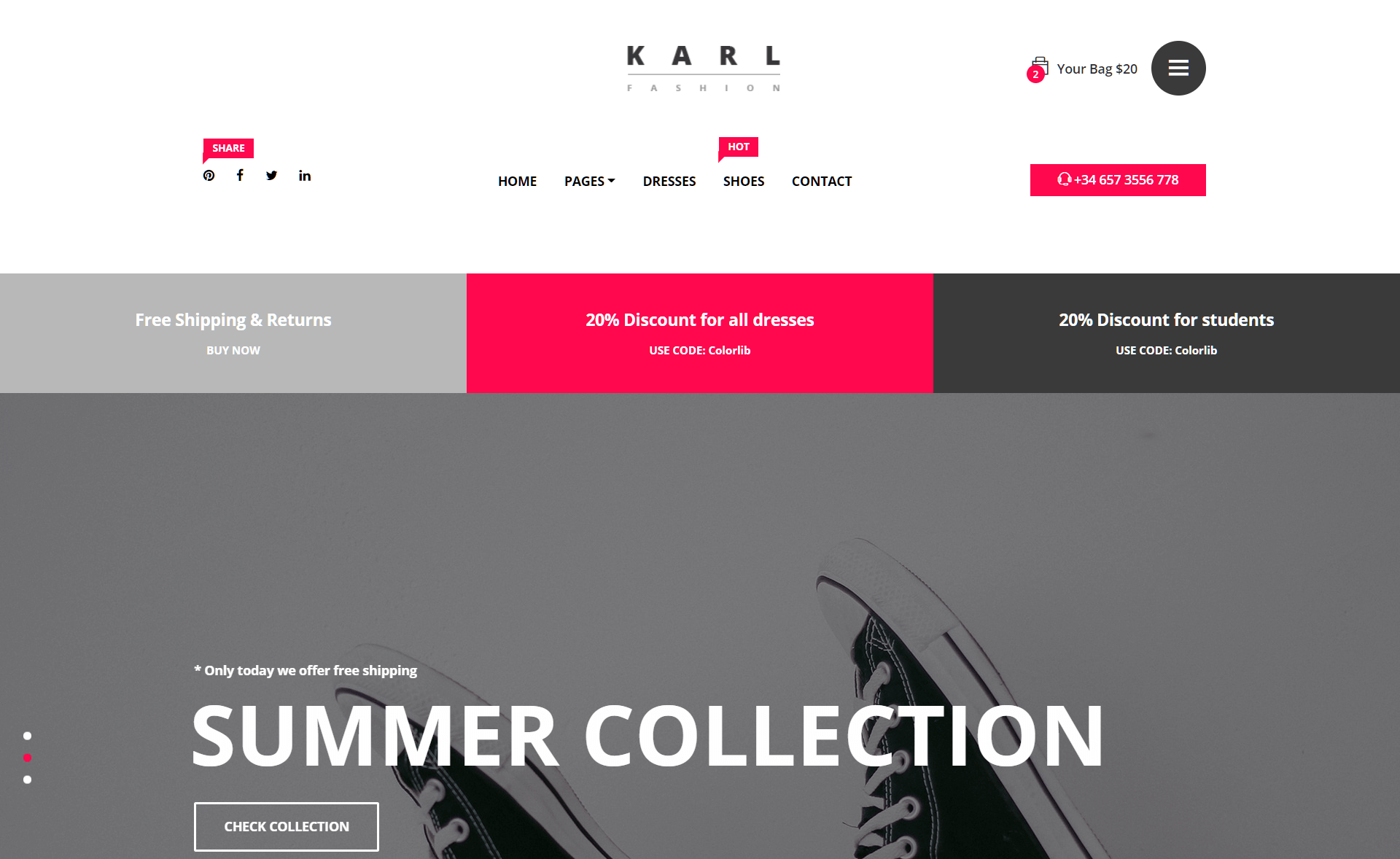 Free HTML5 Responsive eCommerce Template