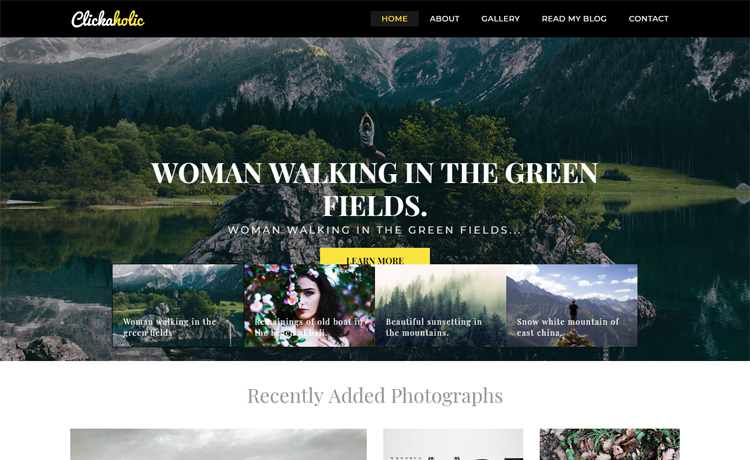 Free Bootstrap 4 HTML5 personal travel blog website template