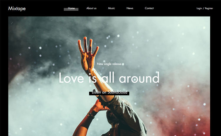 Mixtape Free Bootstrap 4 Html5 Music Website Template
