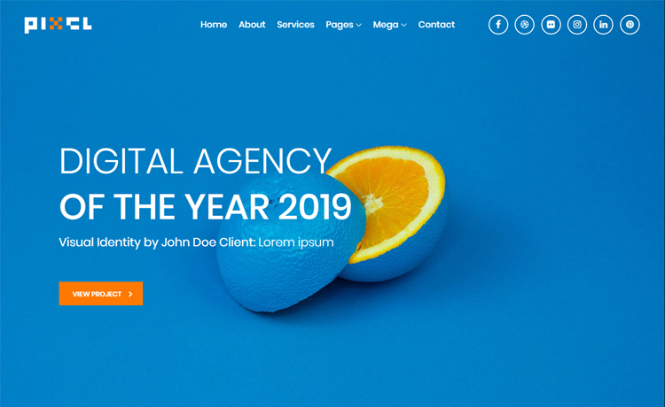 Free HTML5 Bootstrap 4 multi-page creative agency website template
