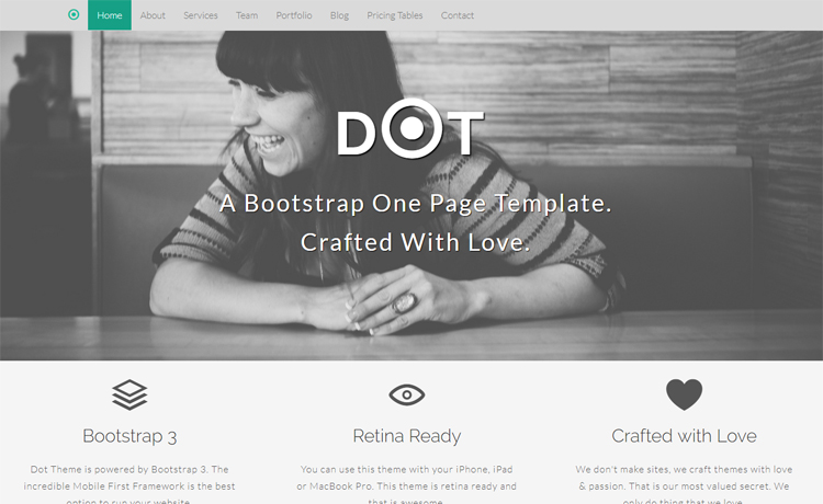 Free Bootstrap HTML5 one-page agency portfolio website template