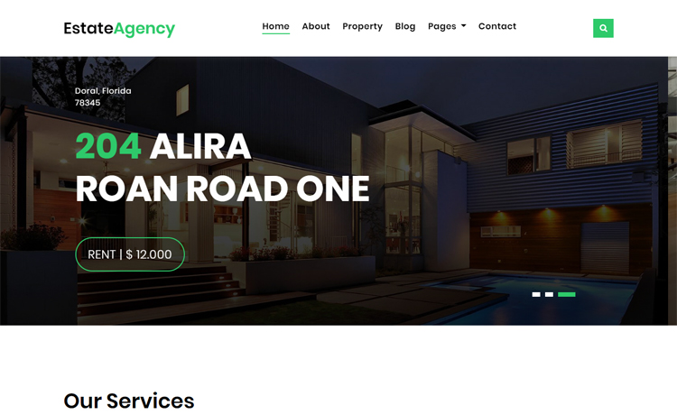 Free Bootstrap 4 HTML5 agency website template