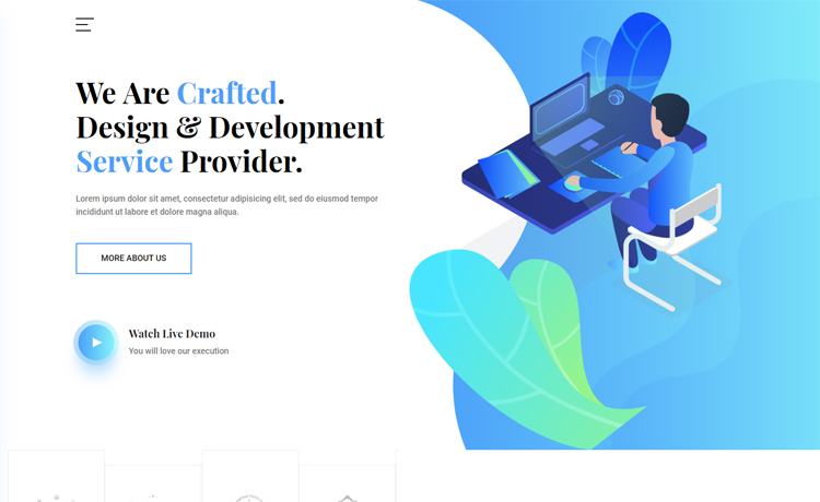 Free Bootstrap 4 HTML5 creative agency template