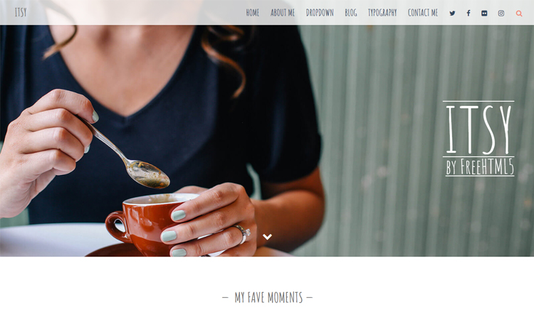 Free HTML5 personal blog template