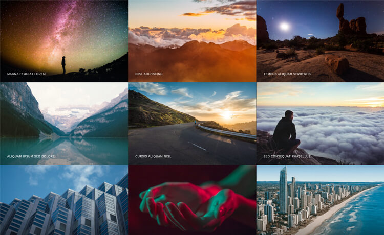 free HTML5 photography website template