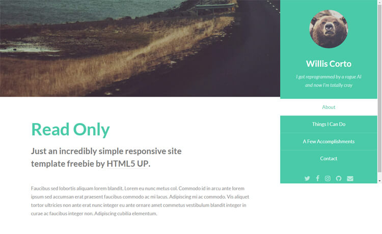 Free HTML5 Multi-purpose Website Template