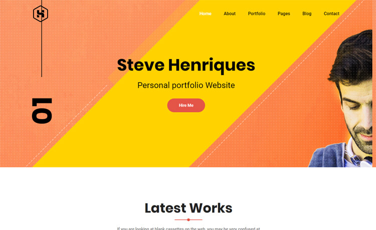 Free HTML5 portfolio website template