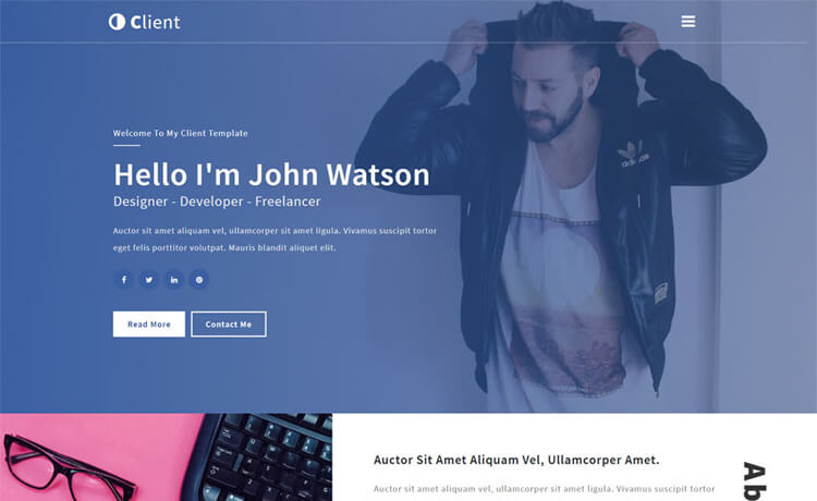 Free Bootstrap HTML5 Personal Portfolio Website Template