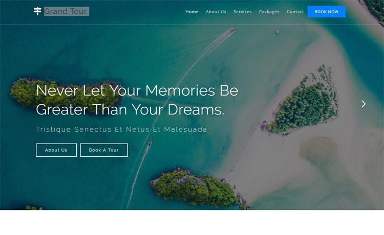Free HTML5 Bootstrap 4 Travel Bolg Template