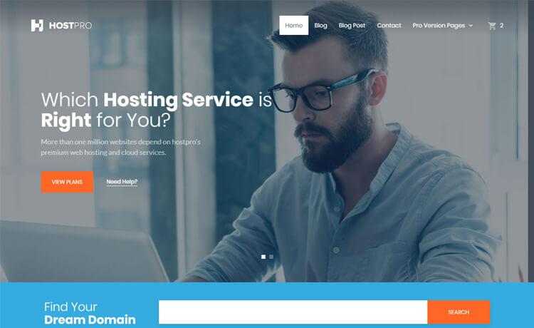 Free HTML5 Hosting Website Template