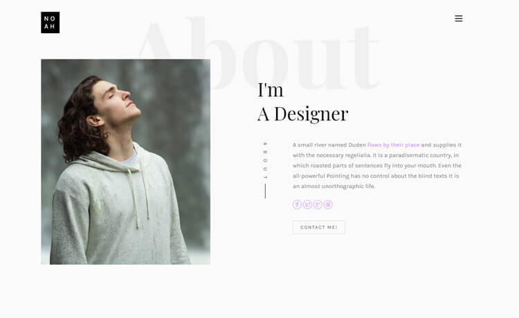 Free HTML5 Personal Landing Page Template Based on Bootstrap Framework