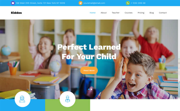 Free HTML5 Bootstrap 4 Education Website Template