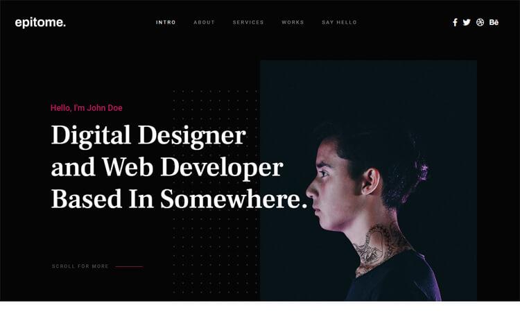 Free HTML5 CSS3 Personal Portfolio Website Template