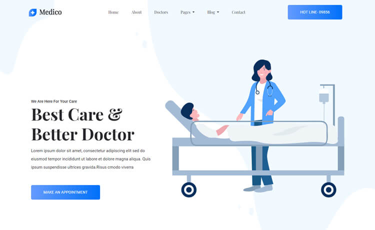 free HTML5 Bootstrap 4 medical website template