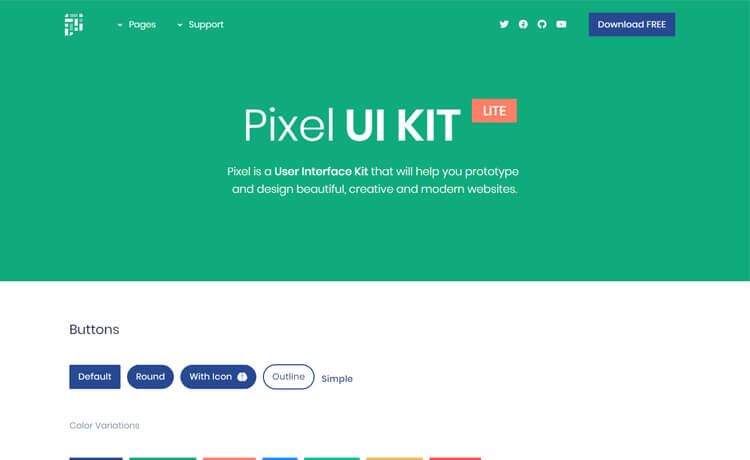 Free Bootstrap 4 UI Kit Template