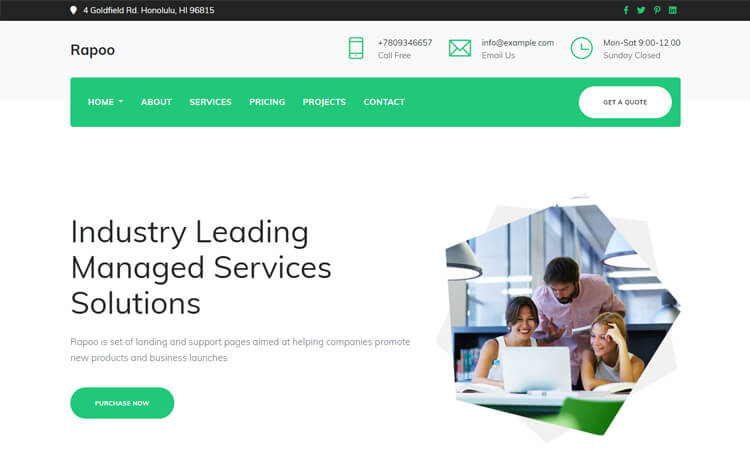 Free Bootstrap 4 HTML5 Corporate Website Template