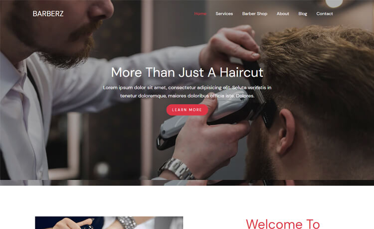 Free Bootstrap 4 HTML5 Barbar Shop Website Template