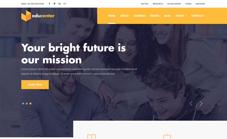 Educenter-Free Responsive Education Website Template