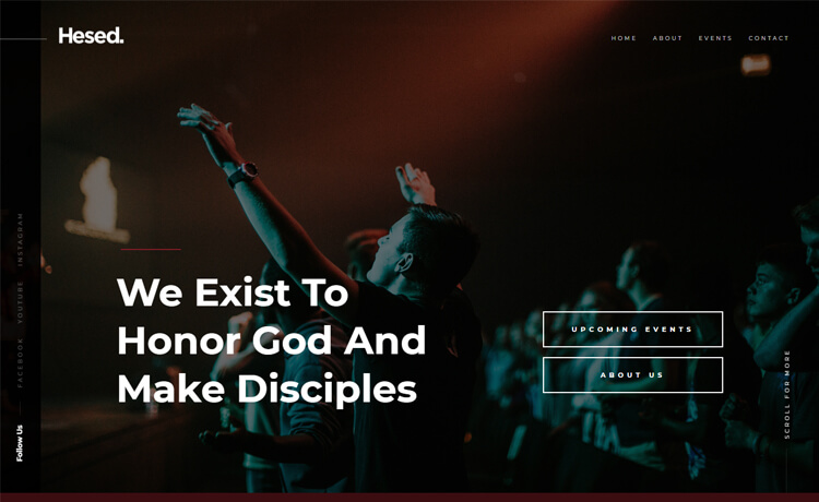 Free Responsive HTML5 Church Website Template