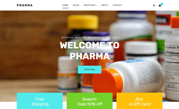 free responsive Bootstrap 4 HTML5 pharmacy website template