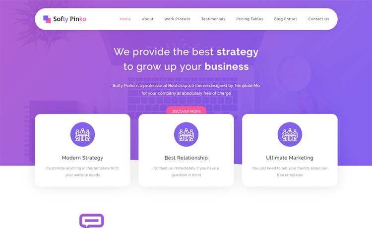 Free HTML5 Bootstrap 4 Corporate Business Website Template