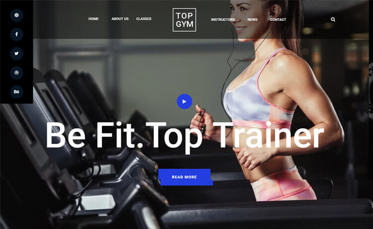 Free Responsive Bootstrap 4 HTML5 Gym Website Template
