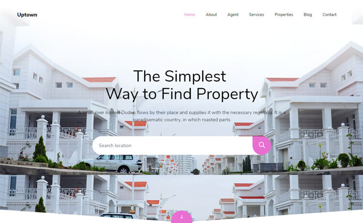 Free Bootstrap 4 HTML5 Real Estate Website Template