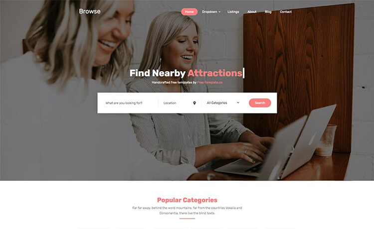 Free Bootstrap 4 HTML5 Directory Website Template