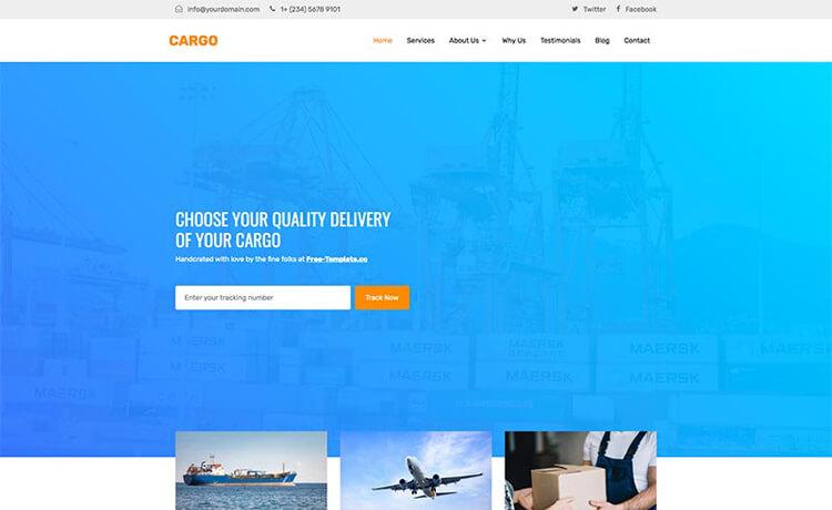 Free Responsive Bootstrap 4 HTML5 Logistics Website Template