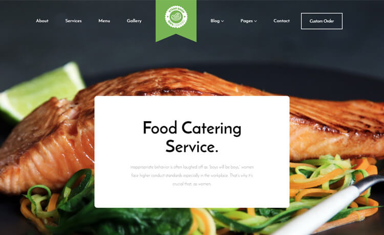 Free Bootstrap 4 HTML5 Responsive Catering Website Template