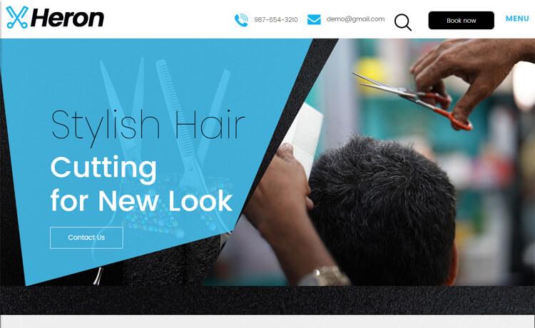 Free Bootstrap 4 HTML5 Responsive Hair Salon Website Template