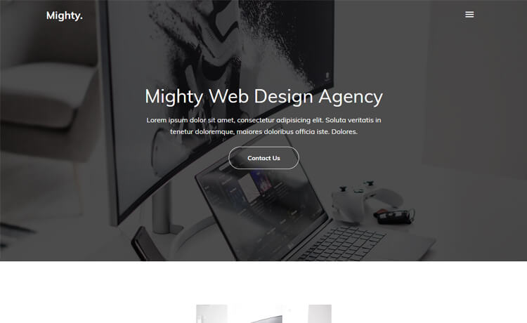 Free Bootstrap 4 HTML5 Responsive Agency Website Template