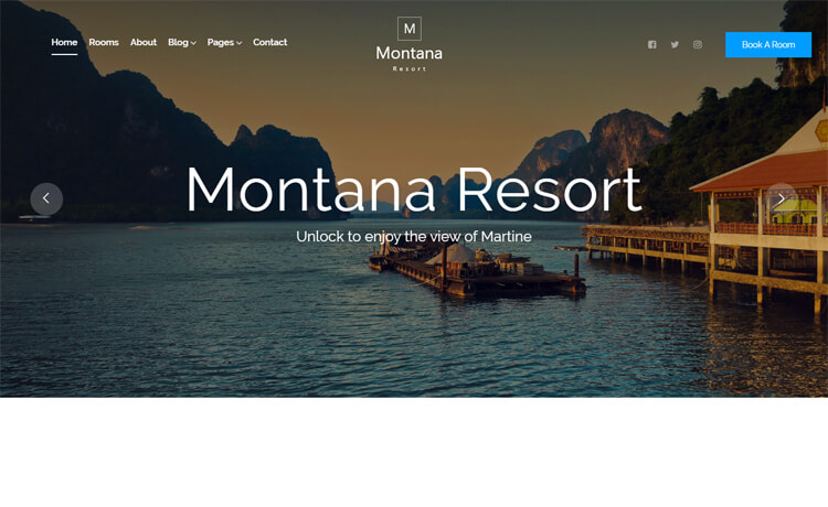 Free Bootstrap 4 HTML5 Responsive Hotel Booking Website Template