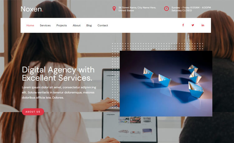 Free Responsive Bootstrap 4 HTML5 Agency Website Template