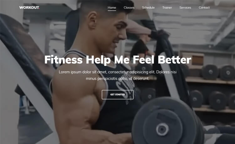 Free One Page Bootstrap 4 HTML5 Gym Website Template
