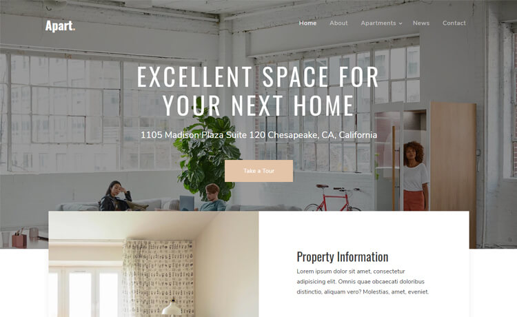 Free Bootstrap 4 HTML5 Real Estate Agency Website Template