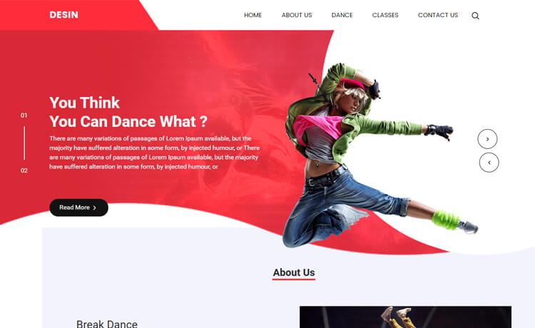 Free Bootstrap 4 HTML5 Dance Studio Website Template