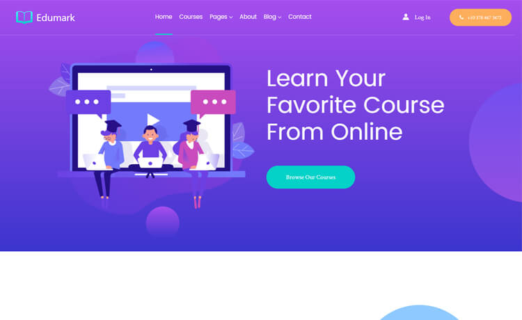 free Bootstrap 4 HTML5 education website template